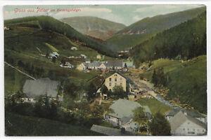 "AK Petzer / Pec pod Snezkou"" Gruss aus Petzer im Riesengebirge "" gelaufen  1908"