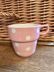 M&S Marks and Spencer Pastel Pink Polka Dot Spot Stacking Mug Cup Replacement