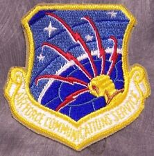 Embroidered Military Patch USAF Air Force Communications Service NEW