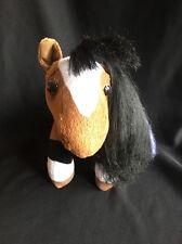 BREYER PONY GALS CHLOE BROWN PINTO HORSE PLUSH Sound Swishing tail white black