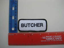 BUTCHER Name Patch Embroidered Applique Halloween Costume Adult Meat