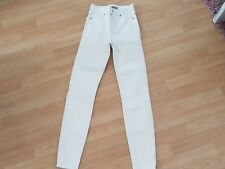 TOPSHOP JAMIE SUPER HIGH WINTER WHITE COATED JEANS W24 L32