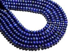 Fil 39cm 90pc env - Perles de Pierre - Lapis Lazuli Rondelles 6x4mm