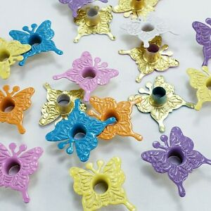18 Butterfly Eyelets 6 Spring Clrs Crafts Stamping Scrapbooking Embellishments