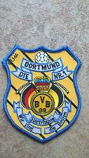 2 Stück Aufnäher BVB Dortmund Die Nr. 1 Südtribüne  (Nr.957)