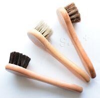 1 Shoe Shine Dauber Polish Applicator 100% HorseHair Bristles Wood Handle