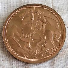 1911 GEORGE V COPPER PROOF PATTERN GEORGE AND THE DRAGON CROWN