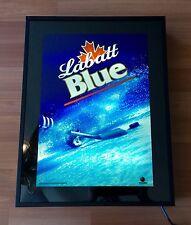 2001 NOS SAITECH ANIMACTION LABATTS BLUE HOCKEY LIGHTED BAR ADVERTISING SIGN