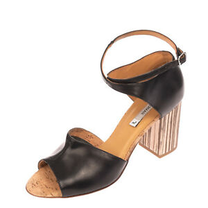 RRP €210 ALBERTO FERMANI Leather Ankle Strap Sandals EU41 UK8 US11 Made in Italy