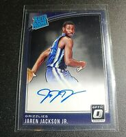 2018-19 Optic Jaren Jackson Jr. Rated Rookie RC On Card Auto Grizzlies
