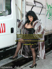 Vanessa del Rio ADULT Star Photo Fur Coat by TRUCK STOP! Signed AFT BUY w/COA