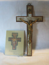 Vintage wall Crucifix and Franciscan Prayers booklet