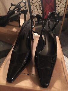 Black  Ankle Strap Heels Enzo Angiolini Designer