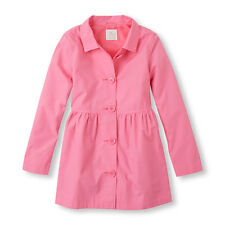 GIRLS SMALL (5-6) The Childrens Place TCP Pink Trench Coat Jacket PRETTY ~ L@@K!