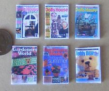 1:12 Scale A Variety Of 6 Opening Paper Magazine Covers Tumdee Dolls House Set 3