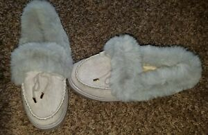 Women's Pair of Slip-on Slippers- Gray- Size MED (6-7) NEW!