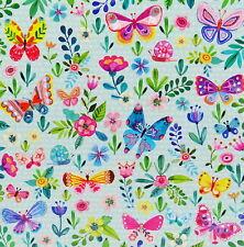 Mila Marquis Postkarte*14x14 Glitzer*viele Schmetterlinge und Blumen*Grußkarte