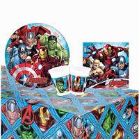 Kit Partido Marvel Avengers 24 Personas Vasos Platos Paño Servilletas 1395