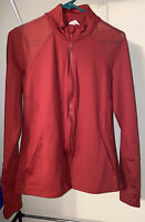 Marika Sport Athletic Jacket Medium Mesh Zip Up Red