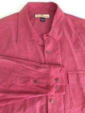 Tommy Bahama Mens 100% Silk Rose Long Sleeve Button Shirt Sz L               2B