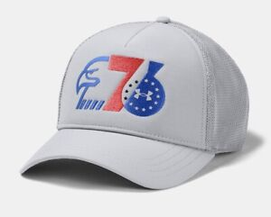 UNDER ARMOUR MENS UA FREEDOM TRUCKER CAP PHILADELPHIA 76ERS HAT