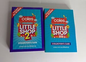 Coles Little Shop minis complete 1 & 2 full sets cases RARE