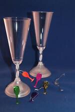 6 marques place métallisés flutes à champagne or argent vert violetrouge fuchsia