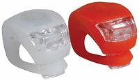 2 LED Silicone Mountain Bicycle Front Rear Lights Set Push Cycle Lamp Clip