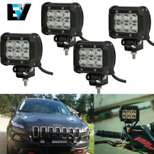 4PCS LED Light Bar Flood Beam Fog Driving PODS OFFROAD SUV 4WD ATV FORD JEEP 50