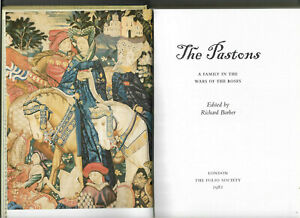 The Pastons A Family in the Wars of the Roses 2001 vgc Boxed Folio Society Edn