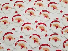 45 CHRISTMAS STICKERS-FELT-SANTA CLAUSE/FATHER CHRISTMAS FACE-XMAS-MOUSTACHE