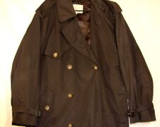 London Fog Men's Iconic Double Breasted Trench Coat 40REG Button Lining Black