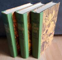 3x Joy Adamson Löwin Elsa Frei Geboren Für immer Frei Halbleder Bücher Buch alt