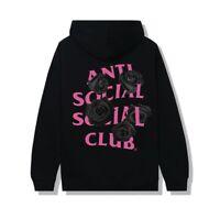 Anti Social Social Club Black Pullover Hoodie Black Rose CornCheese size large