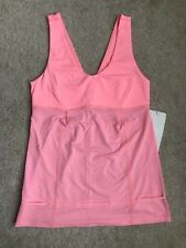 NEW Lululemon Run Hustle and Bustle Tank Top Size 6 Pink Heathered Coral