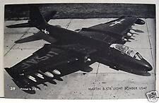 Martin B 57B Light Bomber USAF Airplane Vending Card 39