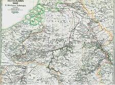Landkarte NIEDERLANDE🇩🇪🇳🇱🇩🇪🇳🇱Texel Lothringen Flandern Verdun Stich 1873