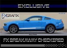 2010 - 2012 Ford Mustang Breakaway Checkered Side Rocker Dealer Quality Stripes