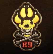 K9 & CROSSBONES KILLER ATTACK POLICE DOG COLOR VELCRO® BRAND FASTENER PATCH