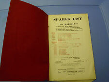 Matchless spare parts manual 1954 single cylinder spring frame and rigid models