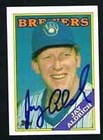 Jay Aldrich #616 signed autograph auto 1988 Topps Baseball Trading Card