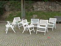 Quattro 4 sedie pieghevoli in legno Reguitti Italia design anni '50