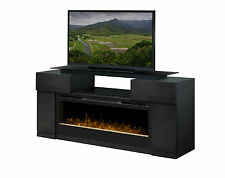 "Dimplex Concord grey TV/media fireplace, glass top, 50"" glass embers firebox"