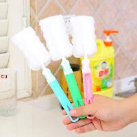 3Pcs Kitchen Cleaning Tool Sponge Brush For Wineglass Bottle Coffe GlassCupBrush