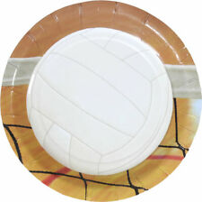 """Volleyball Party 7"""" Paper Plate - Set of 8 - Girl's Birthday Team Party"""