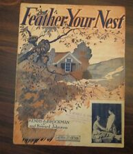 Feather Your Nest sheet music by Kendis & Brockman, Bowers & Sanders Corner Pic