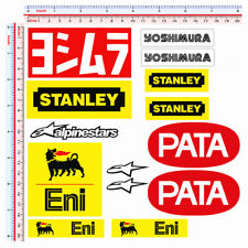 Adesivi sticker sponsor replica agip stanley yoshimura pata print pvc 14 pz.