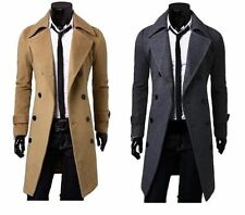 Unbranded Collared Regular Size Wool Coats & Jackets for Men