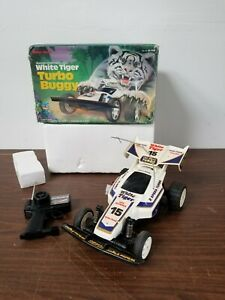 1:12 Radioshack White Tiger Turbo RC Car Electric Untested with Box & Remote