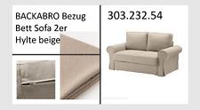 IKEA BACKABRO 2er Bett Sofa Bezug Hylte beige NEU+OVP ! 30323254